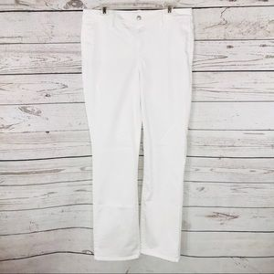 NYDJ Jeans Marilyn Straight White Stretch Mid-Rise